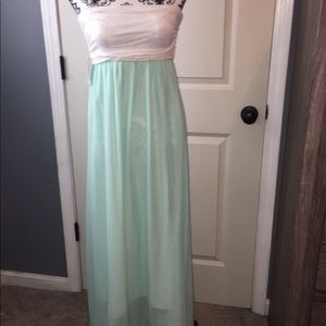 Mint/white maxi READ ALL DESCRIPTION